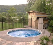 Inground Pool Stamp concrete and Fencing for $17.999.Complete