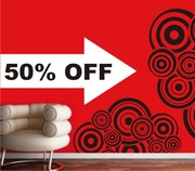 50% OFF this beautiful wall decal