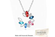 Great Offer!!! Swarovski Elements Multi Colour Circle of Love Pendant