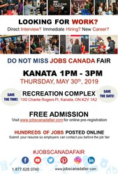 Kanata Job Fair - May 30th,  2019